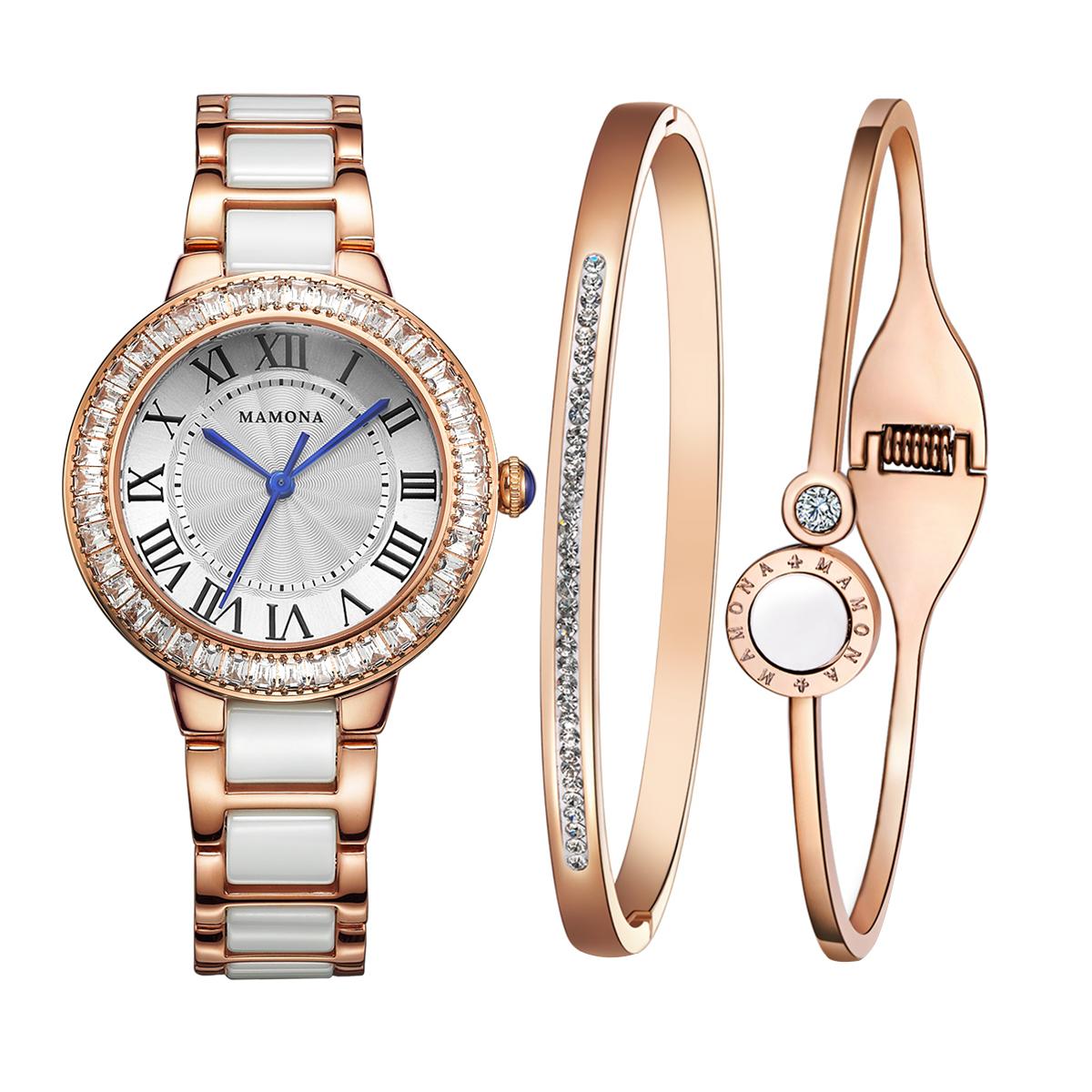 Mamona Women S Watch Bracelet Gift Set L68008rggt Mamona